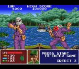 Operation Thunderbolt SNES Some rebels executing a double frontal attack against Shin: successfully he kills one of them.