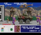 Operation Thunderbolt SNES Critical situation: after a massive-enemy-counter-attack, Erica Whitney is about to reach 0-life!