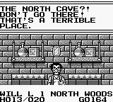 Knight Quest Game Boy Talking to a villager