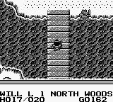 Knight Quest Game Boy Crossing a river
