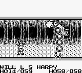 "Knight Quest Game Boy Using a ""star"" spell against a harpy"