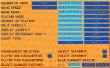 Tennis Cup 2 Atari ST Options