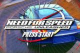Need for Speed: Porsche Unleashed Game Boy Advance Title screen.