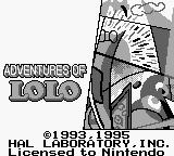 Adventures of Lolo  Game Boy Title Screen (UK)