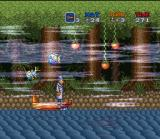 Inspector Gadget SNES Taking a ride down the river