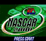 NASCAR 2000 Game Boy Color Title screen.