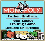 Monopoly Game Boy Color Title Screen