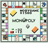 Monopoly Game Boy Color The playing board