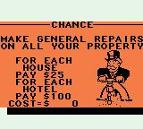 Monopoly Game Boy Color Drawing a chance card