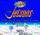 The Jetsons: Invasion of the Planet Pirates SNES Title Screen