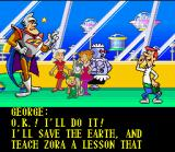 The Jetsons: Invasion of the Planet Pirates SNES Intro: George receives the P.O.P.