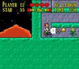 The Jetsons: Invasion of the Planet Pirates SNES Suck and shoot out at enemies