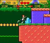 The Jetsons: Invasion of the Planet Pirates SNES Dashing across a breaking bridge