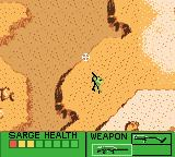 Army Men Game Boy Color Exploring the first level