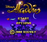 Disney's Aladdin Game Boy Color Title Screen