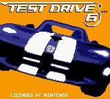 Test Drive 6 Game Boy Color Title screen.