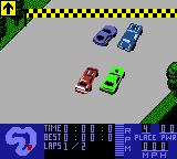 Test Drive 6 Game Boy Color Race grid.