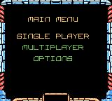Asteroids Game Boy Color Main menu