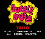 Bubble Bobble also featuring Rainbow Islands DOS Bubble Bobble: Title screen.