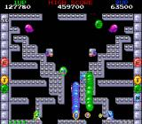 Bubble Bobble also featuring Rainbow Islands DOS Bubble Bobble: Catching baddies in teamwork.