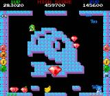 Bubble Bobble also featuring Rainbow Islands DOS Bubble Bubble: Bonus! Its raining gems...