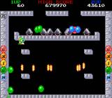Bubble Bobble also featuring Rainbow Islands DOS Bubble Bobble: This is arguably the hardest level in the game. Did anyone say Space Invaders?