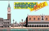 Murders in Venice Atari ST Title screen