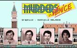 Murders in Venice Atari ST Are the programmers guilty or innocent? You decide