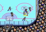 Mutant League Hockey Genesis Action in the corner