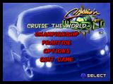 Cruis'n World Nintendo 64 Main menu.