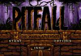 Pitfall: The Mayan Adventure SEGA 32X Title screen.