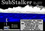 Sub Stalker Apple II front title