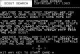 Scout Search Apple II instructions