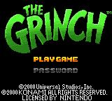 The Grinch Game Boy Color Title screen / Main menu.