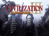 Sid Meier's Civilization III: Play the World Windows Main menu