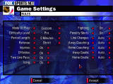 NHL Championship 2000 Windows A lot of game options can be tweaked