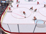 NHL Championship 2000 Windows Stronger shots leave a red trail as they pass