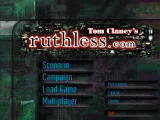 Tom Clancy's ruthless.com Windows Main menu