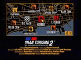 Gran Turismo 2 PlayStation Welcome to Gran Turismoville. The main menu of the simulation mode allows you to do everything from visiting the various dealers to getting a car wash.