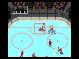 NHL Hockey Genesis Hitting the post (replay mode)