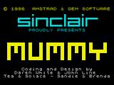 Oh Mummy ZX Spectrum Loading screen from the OEM version