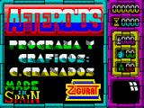 Afteroids ZX Spectrum Loading screen