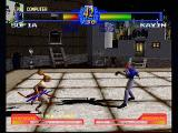 Battle Arena Toshinden 2 PlayStation The Sword and the Whip. Brittish blademaster Kayin faces Russian...dominatrix? Sophia in a dark alley....