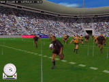 Rugby Windows Players get dirty if they hit the grass a few times (replay controls showing)
