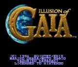 Illusion of Gaia SNES Title screen (U. S. version)