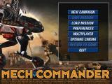 Mech Commander Windows Main Menu