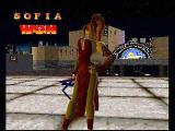 Battle Arena Toshinden 2 PlayStation You've been a bad boy. Sophia taunts her defeated opponent.