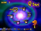 Q*bert Windows Menu screen