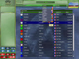 UEFA Manager 2000 Windows Selecting a team