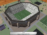 UEFA Manager 2000 Windows Stadium and buildings model